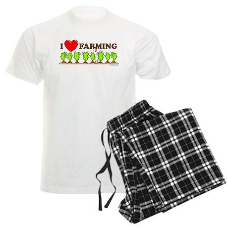 I Heart Farming Men's Light Pajamas