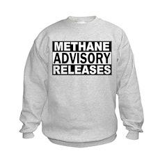 Methane Release Advisory Kids Sweatshirt