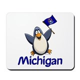 Michigan Penguin Mousepad