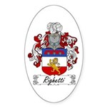 Ridolfi Coat of Arms Oval Sticker