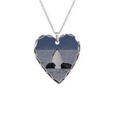 Heart Necklace-Whale (Orca)