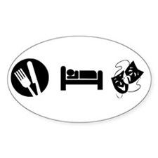 Eat Sleep Theatre Decal