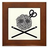 Pirate Crochet Framed Tile