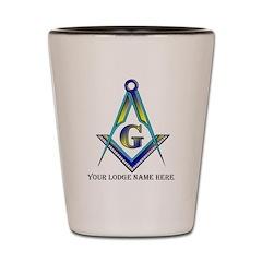 Masonic Custom Shot/Firing Glass