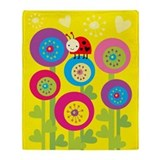 Ladybug Sighting Throw Blanket