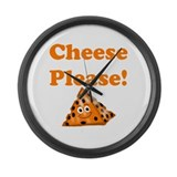 Cheese Please! Large Wall Clock