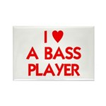 I LOVE A BASS PLAYER Rectangle Magnet (10 pack)