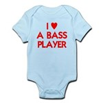 I LOVE A BASS PLAYER Infant Bodysuit