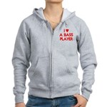 I LOVE A BASS PLAYER Women's Zip Hoodie
