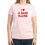 I LOVE A BASS PLAYER Women's Light T-Shirt