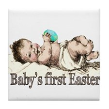 Nostalgic Baby's First Easter Tile Coaster