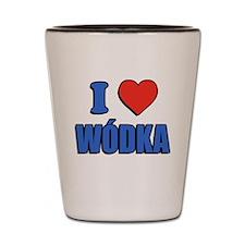 I Love Wodka Shot Glass