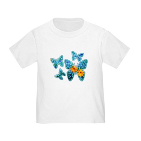 Electric Blue Butterflies Toddler T-Shirt