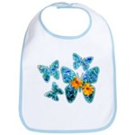 Electric Blue Butterflies Bib