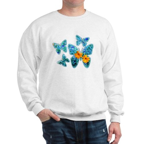 Electric Blue Butterflies Sweatshirt
