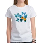 Electric Blue Butterflies Women's T-Shirt