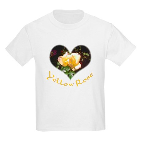 Yellow Rosebud Kids T-Shirt