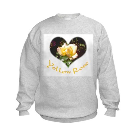 Yellow Rosebud Kids Sweatshirt