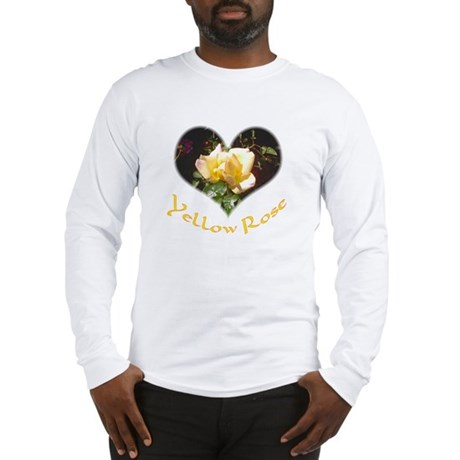 Yellow Rosebud Long Sleeve T-Shirt