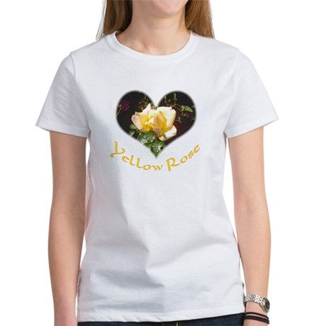 Yellow Rosebud Women's T-Shirt
