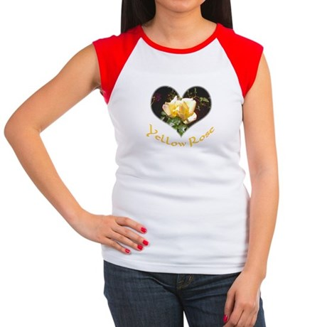 Yellow Rosebud Women's Cap Sleeve T-Shirt
