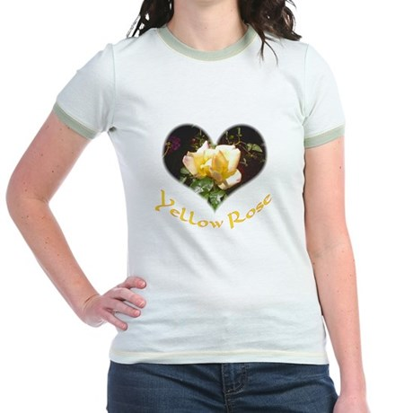 Yellow Rosebud Jr. Ringer T-Shirt