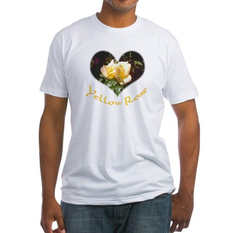 Yellow Rosebud Fitted T-Shirt