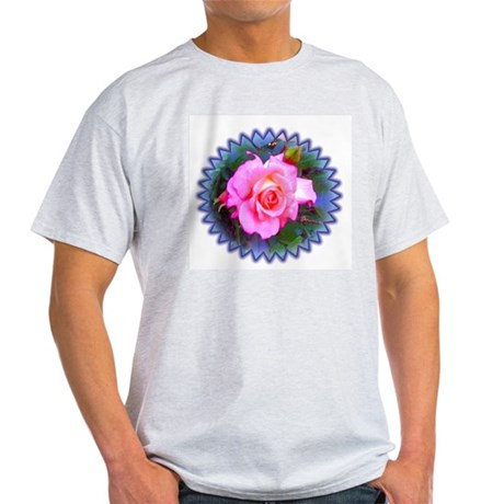 Rose in the Redwoods Ash Grey T-Shirt