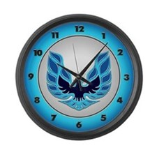 Firebird / Trans Am - Blue Large Wall Clock