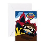Little Heroes Superhero Greeting Card