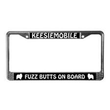 Keesiemobile Fuzz Butts License Plate Frame
