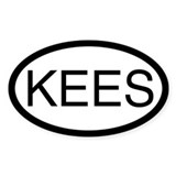 KEES (Keeshond) Oval Decal