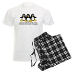 Burning Stare Penguins Men's Light Pajamas