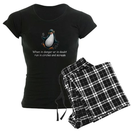 Screaming Penguin Women's Dark Pajamas