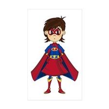 Cute Superhero Girl Sticker (10 Pk)