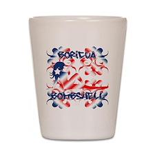 Boricua Bombshell Shot Glass