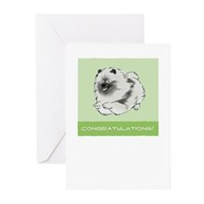 Keeshond Congratulations Greeting Cards (Pk of 10)