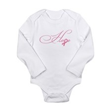 Hope - Pink Ribbon Bre Long Sleeve Infant Bodysuit