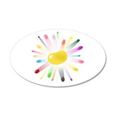 yellow jellybean blowout 22x14 Oval Wall Peel