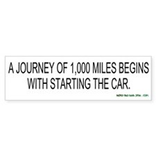 A Journey of 1,000 Miles Begins...Starting the Car
