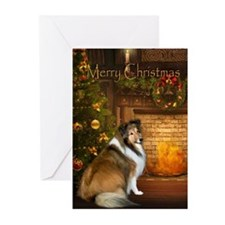 Holiday Grace Sheltie Xmas Cards (Pk of 10)