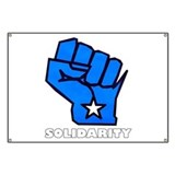 Solidarity Fist Banner
