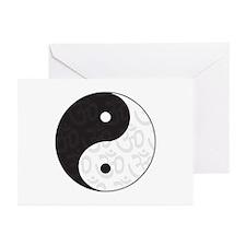 Ying Yang Yoga Greeting Cards (Pk of 10)