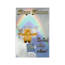 Bingo Heaven kitty Rectangle Magnet (10 pack)