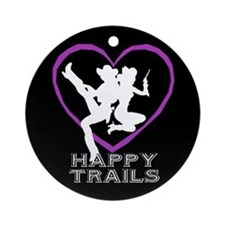 """Happy Trails Lesbians"" Ornament (Round)"