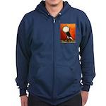 Voorburg Cropper Blue Check Zip Hoodie (dark)