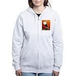Voorburg Cropper Blue Check Women's Zip Hoodie