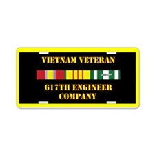 617th Engineer Company Aluminum License Plate