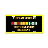 508th Infantry Regiment Aluminum License Plate