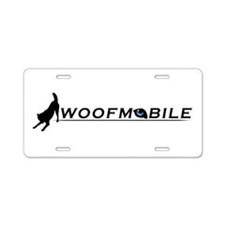 Cute Racing siberian husky Aluminum License Plate